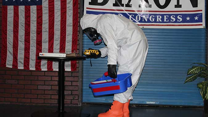 image of training in Evidence Collection in a Hazardous Materials Environment