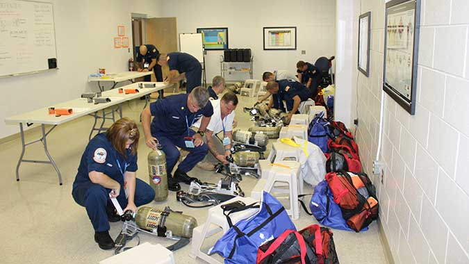 image of training in Hazardous Materials Technologies: Sampling, Monitoring, and Detection