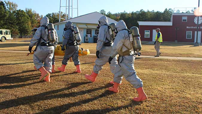image of training in Hands-On Training for CBRNE Incidents