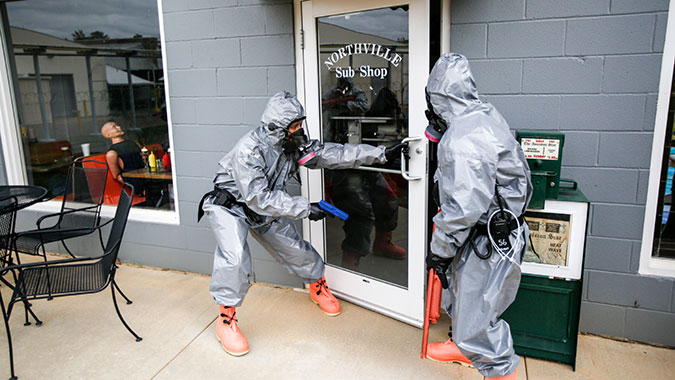 image of training in Law Enforcement Response Actions for CBRNE Incidents