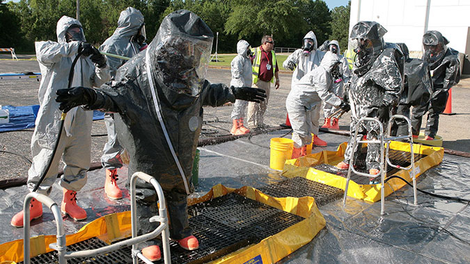 image of training in Hazardous Materials Technician