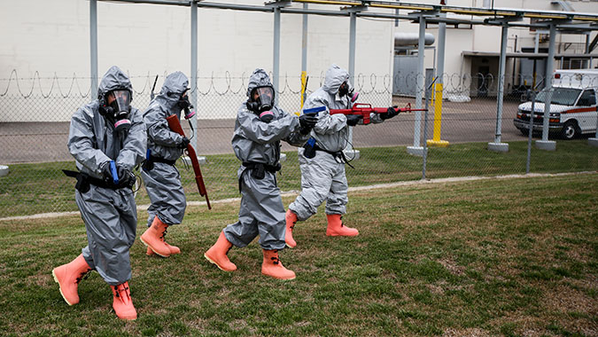 image of training in Intermediate Hands-On Training for CBRNE Incidents: Law Enforcement