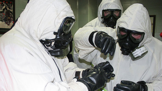 image of training in Personal Protective Measures for Biological Events