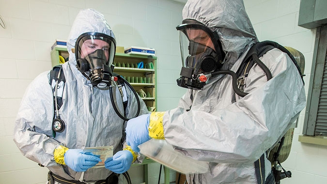 image of training in Hazardous Materials Operations