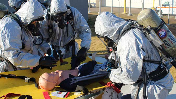 image of training in Intermediate Hands-On Training for CBRNE Incidents