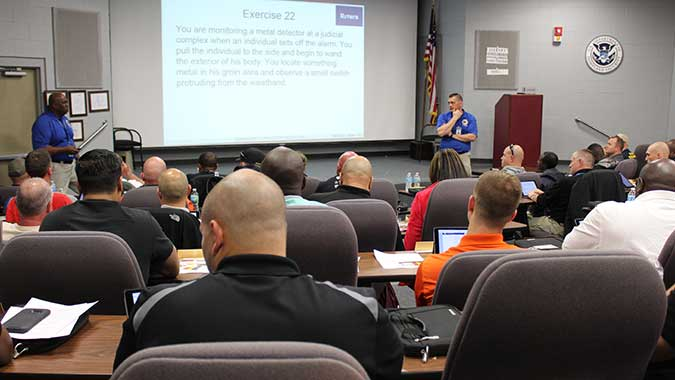image of training in Initial Law Enforcement Response to Suicide Bombing Attacks