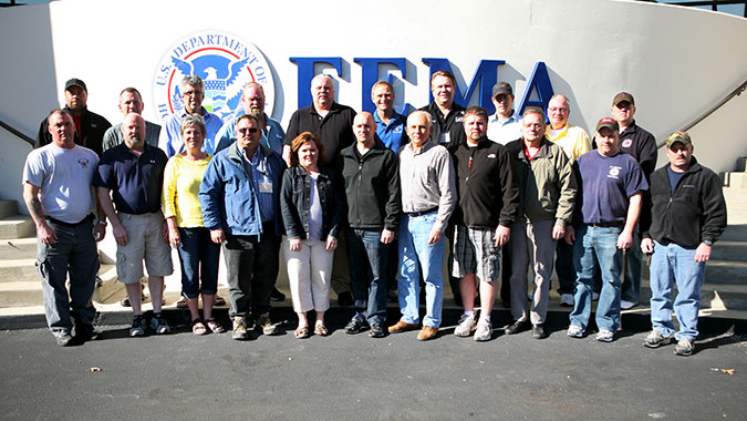 Community leaders from five Central Minnesota cities recently attended training at FEMA's Center for Domestic Preparedness (CDP). These 21 leaders representing fire departments, police departments, public works, and even administrators attended the Incident Command: Capabilities, Planning, and Respo