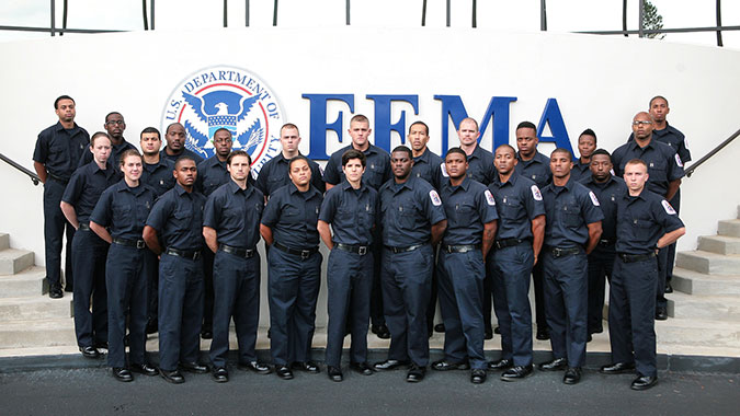 Recruits from the Fire and Emergency Medical Service Training Academy, Prince Georges County, Md., attended training at FEMA's Center for Domestic Preparedness (CDP) recently. The academy sent 25 firefighter-medic recruits to attend the Emergency Responder Hazardous Materials Technician for CBRNE In