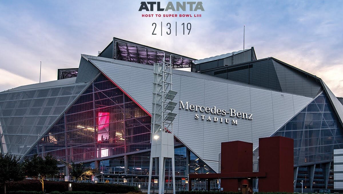Mercedes Benz Stadium in Atlanta, GA.