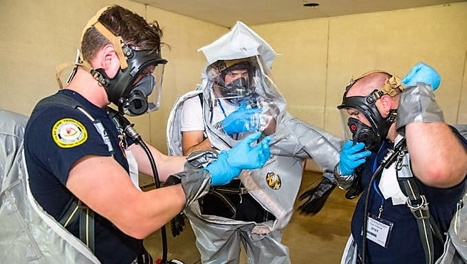 Hazardous Materials training at the CDP.