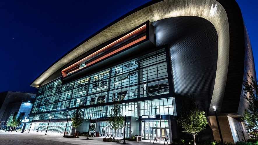 The Fiserv Forum in Milwaukee, Wis., site of the 2020 Democratic National Convention.