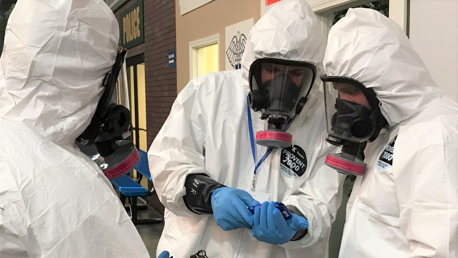 Hazardous material evidence collection training at the CDP