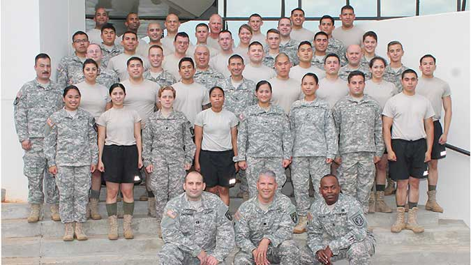 45 members of the California National Guard's 140th Chemical Company to training this week.