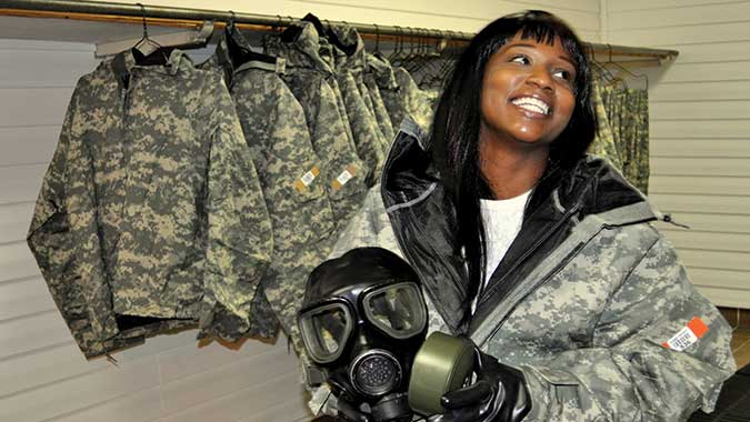 "Tina Reddick, a training operation specialist made her 1,000th entry into the COBRA ""Hot Zone"" in January."
