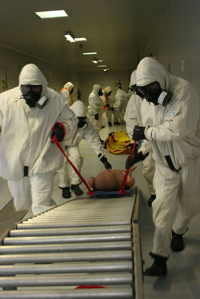 The Center for Domestic Preparedness' cutting-edge training incorporates the nation's only toxic chemical agent training facility for civilian responders.  Using nerve agents GB and VX, the facility located in Anniston, Ala., offers a one-of-a-kind training opportunity.  The CDP provides emergency responders with the confidence and competence to face almost any disaster or hazardous event, understanding that their equipment and abilities are up to task. CDP training focuses on incident management, mass casualty response, and emergency response to a catastrophic natural disaster or terrorist act. CDP training for state, local, and tribal responders is fully funded by FEMA, a component of the U.S. Department of Homeland Security. Round-trip air and ground transportation, lodging, and meals are provided at no cost to responders or their agency. To learn more about the Center for Domestic Preparedness, visit http://cdp.dhs.gov or call 866-213-9553.  Photo by Shannon Arledge CDP/FEMA